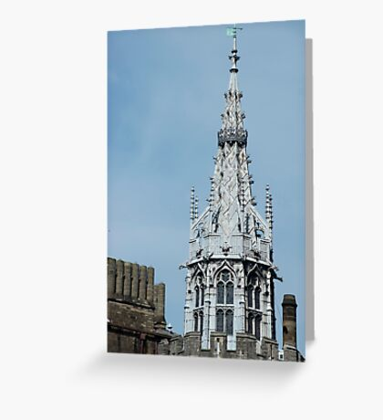 Gothic spire at Cardiff Castle Greeting Card