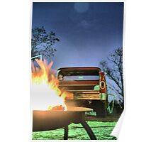 Backed up to the fire  Poster