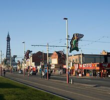 Blackpool street scene by photoeverywhere