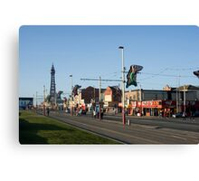 Blackpool street scene Canvas Print
