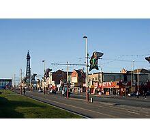 Blackpool street scene Photographic Print