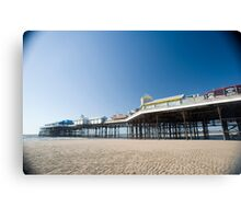 Blackpool central pier Canvas Print