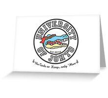 University of Johto - Black Outlines! Greeting Card