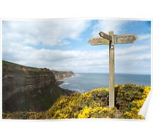 Signpost on Cleveland Way Poster