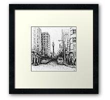 Orwell St, Potts Point Framed Print