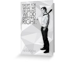 Will McAvoy - The Newsroom Greeting Card