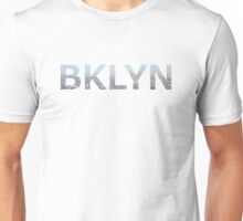 BKLYN aerial photo skyline logo Unisex T-Shirt