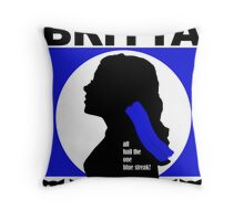 The One Blue Streak!  Throw Pillow
