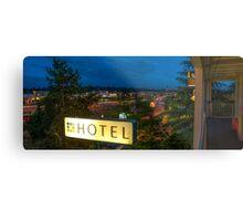 Motel by the highway Metal Print