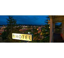 Motel by the highway Photographic Print
