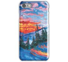 Mountain Sunset - Print from Original Oil Painting iPhone Case/Skin