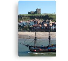 Replica of the Bark Endeavour Canvas Print
