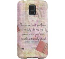Jane Austen funny Intolerably Stupid quote humor  Samsung Galaxy Case/Skin