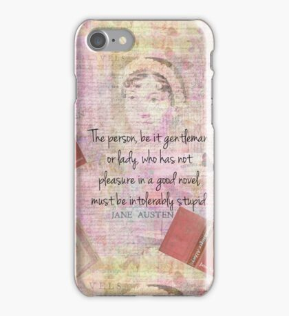 Jane Austen funny Intolerably Stupid quote humor  iPhone Case/Skin