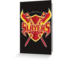 Sunnydale Slayers Greeting Card
