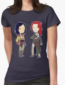 pirate girlfriends Womens Fitted T-Shirt