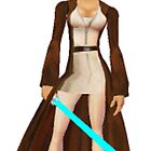princess leia as jedi knight by DrWhoJohnSmith
