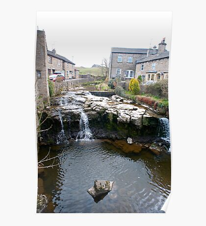 Falls on the River Ure, Hawes, Yorkshire Dales Poster
