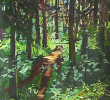 Light on a forest path. by kira-culufin