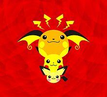 Pokemon - Pikachu's Cute Evolution by jebez-kali