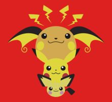 Pokemon - Pikachu's Cute Evolution Kids Clothes