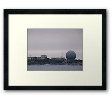 Macquarie Island base Framed Print
