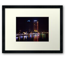 Da Nang city by night Framed Print