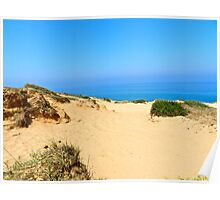 Sandy Dunes by Sea Poster