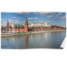 The Kremlin and Moskva River Poster