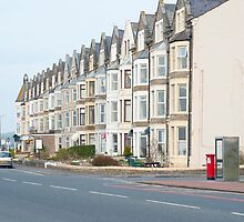 Seafront houses in Morecambe by photoeverywhere