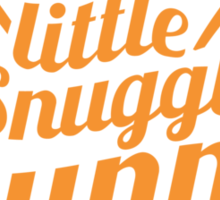 Little Snuggle Bunny rabbit awesome baby design Sticker