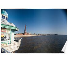 Blackpool from the North Pier Poster
