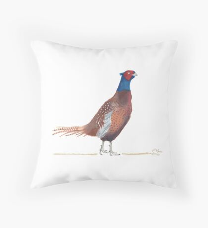 A Lovely Little Pheasant Throw Pillow