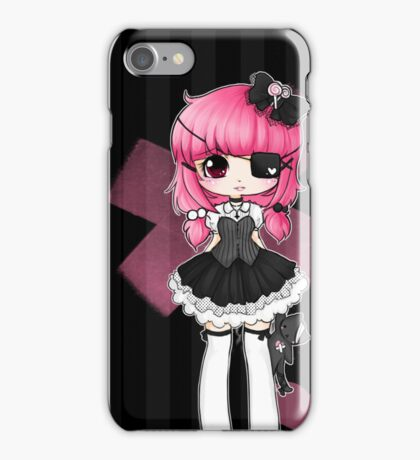 Pink gothic lollypop girl iPhone Case/Skin