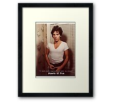 Streets Of Fire Framed Print