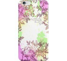 Floral Splatter iPhone Case/Skin