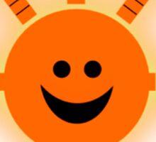 I Feel Good Orange Sun Sticker
