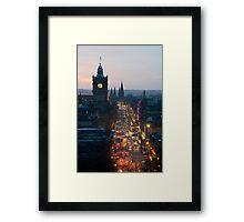 Princes Street Edinburgh at night Framed Print