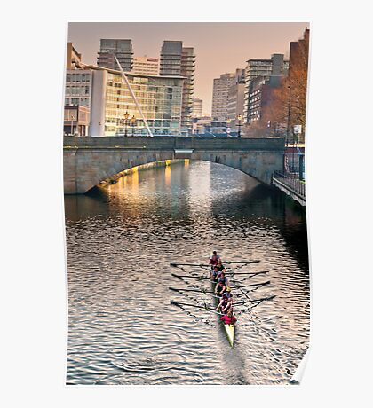 Rowing on the Irwell Poster