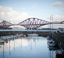 Queensferry harbour and the Forth Rail Bridge by photoeverywhere