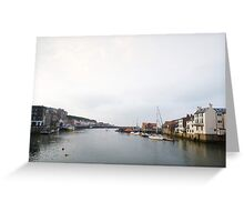 Lower harbour of Whitby Greeting Card