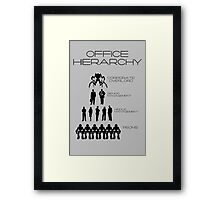 Office Hierarchy Framed Print