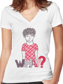 Eh, What? Women's Fitted V-Neck T-Shirt