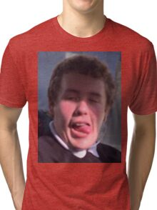 chiicken on ma cheek Tri-blend T-Shirt