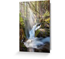 Sol Duc Falls Greeting Card