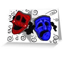 Drama Masks Greeting Card