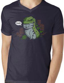 Catzilla! Mens V-Neck T-Shirt