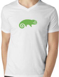 Suse Chameleon Logo Mens V-Neck T-Shirt