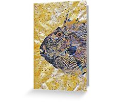 Gyotaku - Triggerfish - Oldwench -  Diptych 1  Greeting Card