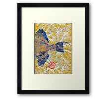 Gyotaku - Triggerfish - Oldwench -  Diptych 2  Framed Print